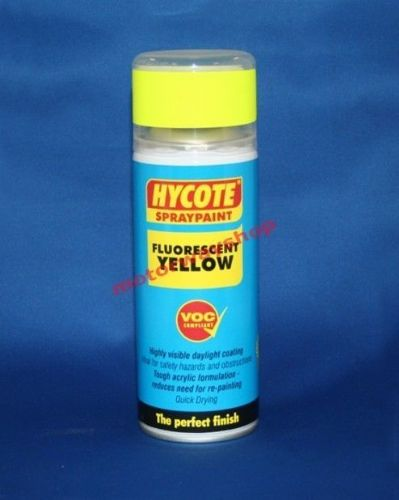Fluorescent Neon Yellow Spray Paint Hi Vis Hycote 400ml